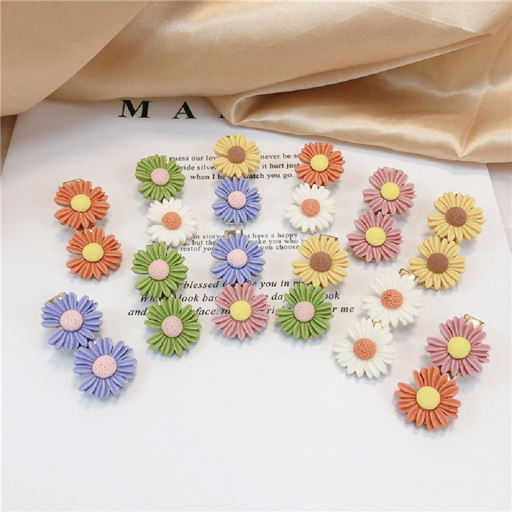 Mini Daisy Flower Sweet Hair Clip Ring Elastic Rope Bands HairPins Ponytail Girls Kids Fashion Hairband Hair Accessories