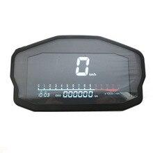 Профессиональные аксессуары для мотоциклов с ЖК-экраном Универсальный многофункциональный цифровой одометр тахометр спидометр для 2 4 цилиндров
