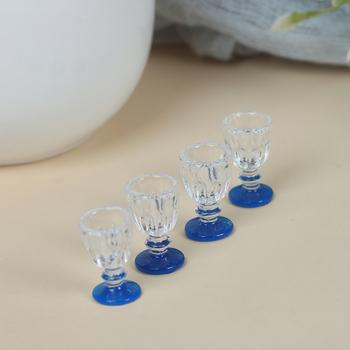4 sztuk 1 12 skala DIY części z tworzywa sztucznego przejrzyste czara miniaturowe Mini wino piwo kubek domek dla lalek rzemiosło dekoracji wnętrz szkła modelu tanie i dobre opinie MYPANDA CN (pochodzenie) Unisex Kitchen Glass Beer Wine Cup Drink Bottles 3 lat Wyroby gotowe