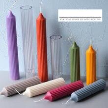 S/l вертикальная полоса форма для длинных свечей пластиковая