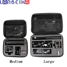 LANBEIKA Carry Storage Bag Protective Case Box Handbag For DJI OSMO Action GoPro Hero 9 8 7 6 5 YI SJCAM SJ9 Camera Accessories