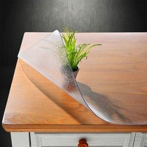 Image 5 - גבוהה כיתה חסר ריח רך זכוכית פלסטיק PVC עמיד למים מפת שולחן 1.5mm לשפשף החלקה שולחן מחצלת המפלגה שולחן קישוט אישית