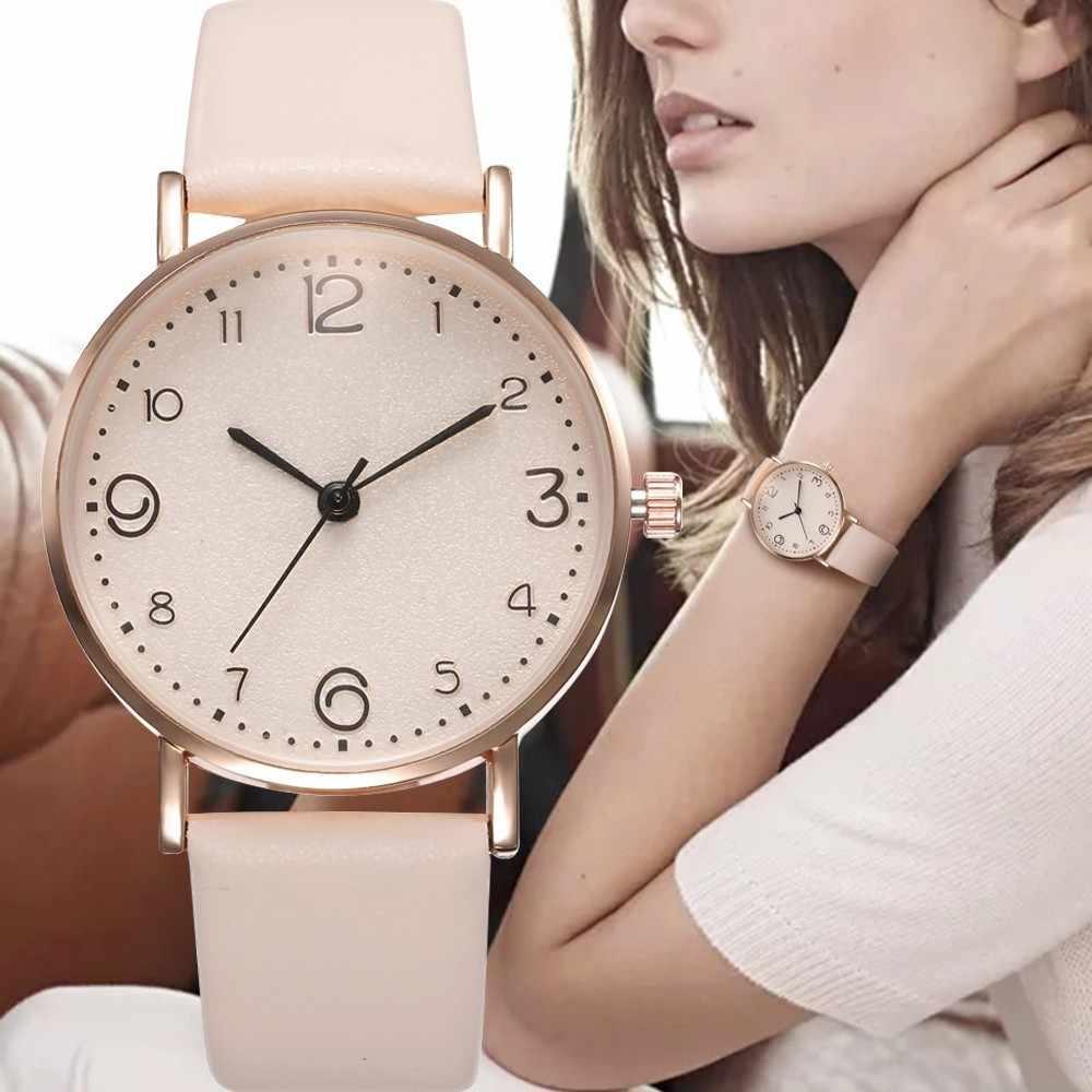 למעלה אופנה סגנון יוקרה נשים רצועת עור אנלוגי קוורץ שעון יד זהב גבירותיי שעון נשים שמלה Reloj Mujer שחור שעון