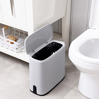 스마트 센서 휴지통 전자 자동 가정용 욕실 욕실 화장실 방수 쓰레기통 좁은 솔기 수