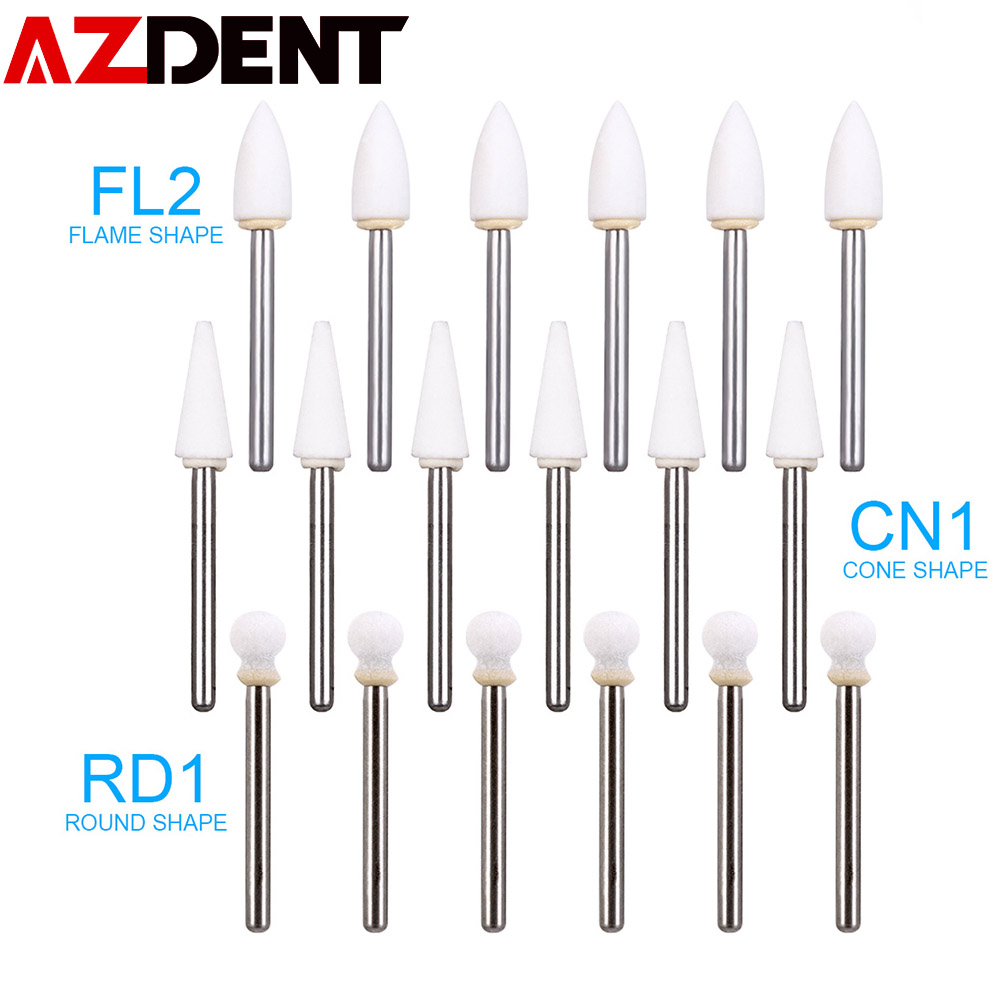 Dental Flame White Stone Polishing FG Burs 12/pk Abrasion