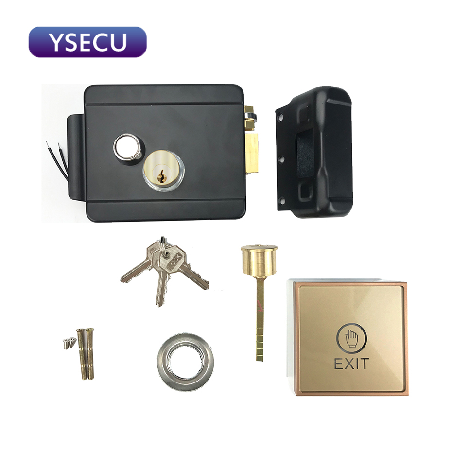 YSECU Home Security Factory Warehouse Gate Door Electric Lock 3A Power Source Access Control Switch Video Intercom Unlock System