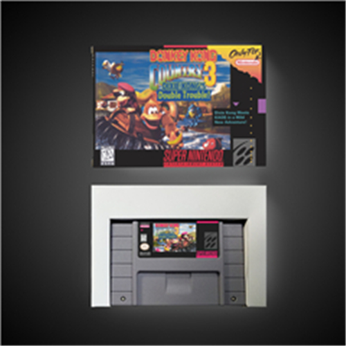 Donkey Country Kong 3 - Dixie Kong's Double Trouble! - RPG Game Card Battery Save US Version Retail Box