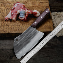 Butcher Kitchen Knives Handmade Forging Serbian Kiritsuke Knife Tool Chef High-carbon Clad Steel Cleaver Filleting Slicing Knife(China)