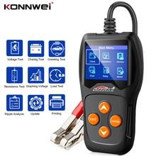 KONNWEI KW600 스마트 배터리 테스터 100 2000CCA 자동차 배터리 지원 자동 배터리 도구 스캐너 12V 배터리 시스템 진단