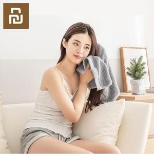 Image 3 - Toalla antibacteriana Youpin COMO LIVING de fibra negra y plateada suave y cómoda toalla absorbente y duradera de 32x76cm