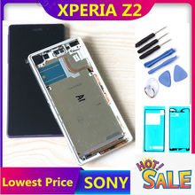 5.2'' D6502 D6503 D6543 LCD For SONY Xperia Z2 Display Touch Screen Digitizer Assembly For SONY Z2 LCD with frame back cover(China)