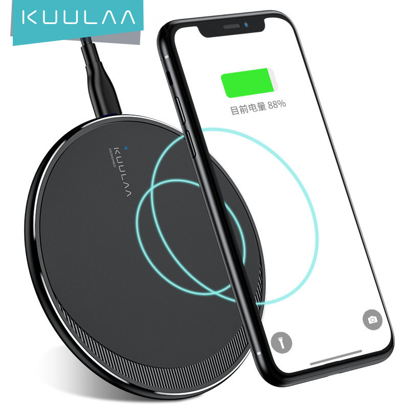 KUULAA Qi Wireless Charger For iPhone 11 Pro 8 X XR XS Max 10W Fast Wireless Charging for Samsung S10 S9 S8 USB Charger Pad|Wireless Chargers| -…