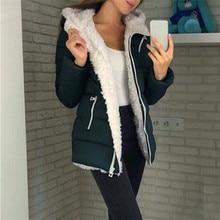 купить Autumn Hooded Jacket Fashion Women Winter Thicken Coats Long Sleeve Warm Jacket Outerwear Zipper Coat Turn-down Collar Jacket по цене 459.17 рублей