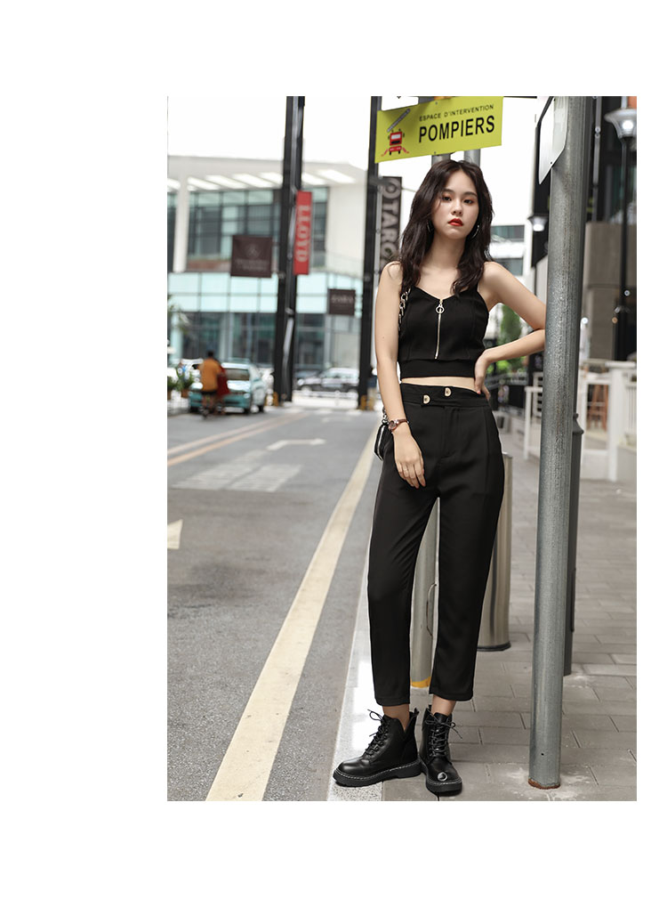 He2ca08386be747ad9e3ecec281abd6e89 - HELIAR Tops Women Crop Top Club Sexy Zipper Knitting Camisole With Hole Female Tank Tops Ladies Sleeveless Solid Strap Top Women