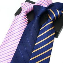 8 см галстуки для мужчин полосатый синий Хомбре галстуки Гравате классический формальные мужские светское мероприятие Бизнес свадебное платье жених галстук