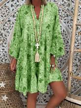 Fashion Summer Dress Casual Robe Femme Elegant Zomer Jurk Print Beach Dresses Vestido De Festa Loose and Comfortable Plus Size