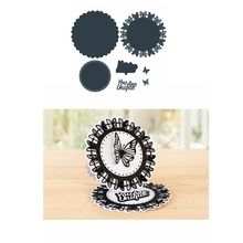Metal Cutting Dies You Are Unique Round Background Butterflies Border Die Cuts For Card Making Scrapbooking 2019 Crafts Cards