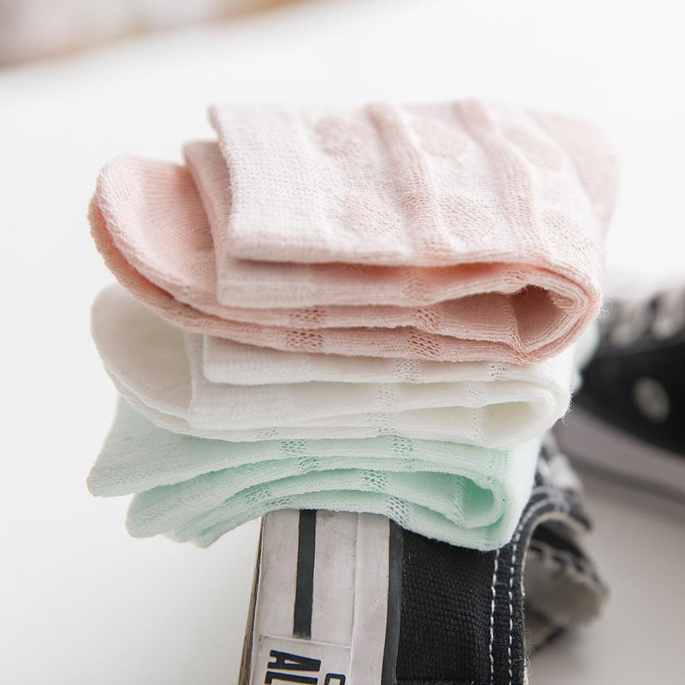 5Pairs/lot 2-9Y Baby Socks Summer Cotton Striped Heart Thin Kids Socks Solid Girls Mesh Cute Newborn Boy Toddler Socks Baby 6