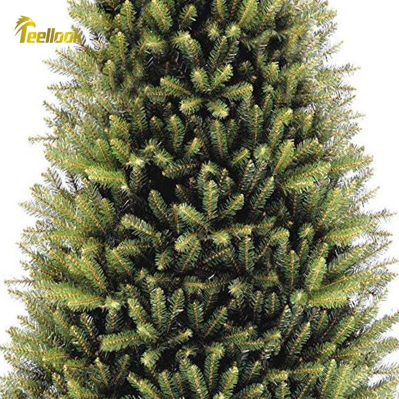 Teellook новый год 1,2 м/3,6 м Новый ПВХ материал Рождественская елка рождественский отель торговый центр украшение дома - 4
