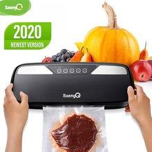 Saengq melhor aferidor do vácuo de alimentos máquina de embalagem elétrica para casa cozinha sacos de poupança de alimentos comercial vedação de alimentos a vácuo
