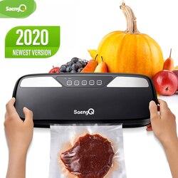 Вакуумный упаковщик пищевых продуктов saengQ, лучший электрический упаковщик для дома, кухни, пакеты для сохранения пищи, промышленный Вакуум...