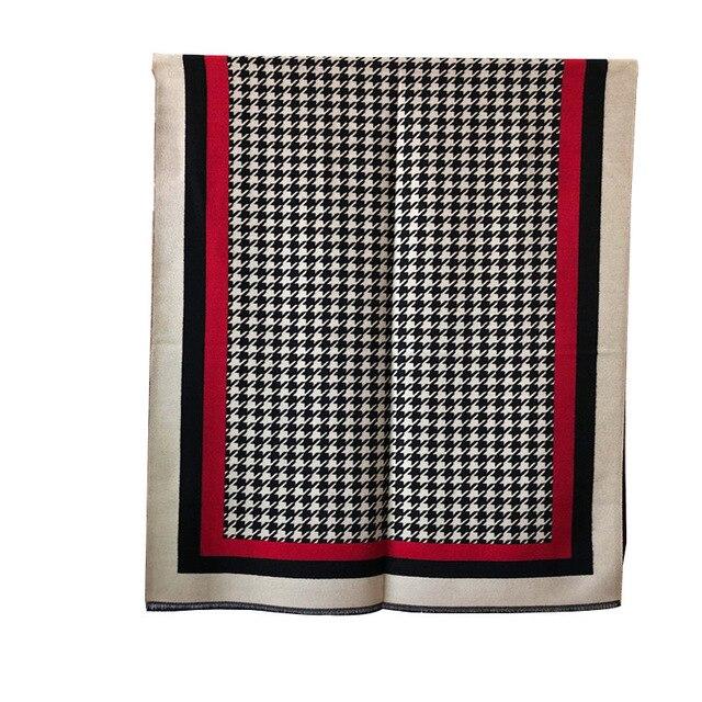 Marca 2019 inverno cachecol houndstoo cashmere pashmina mulheres scarfs quente grosso xale hijab poncho para senhoras cachecóis foulard femme