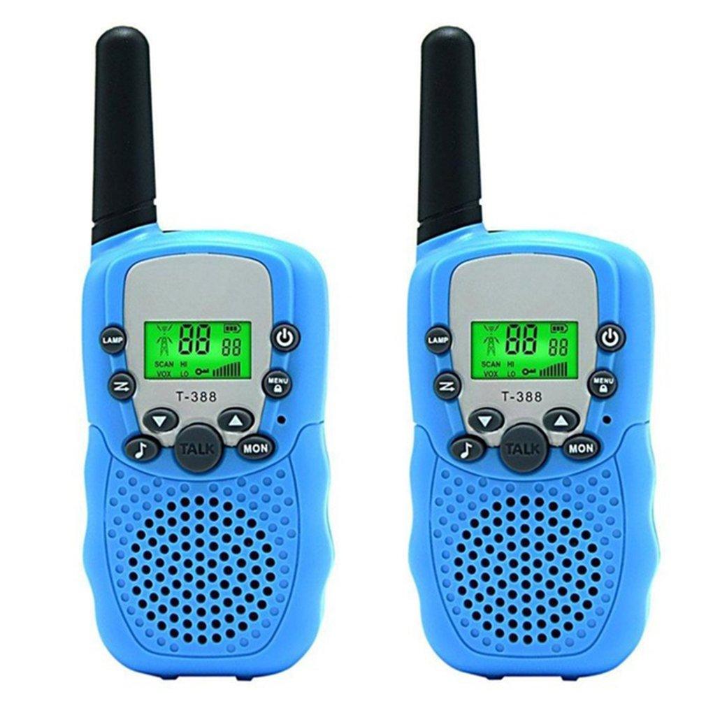 Mini Kids Walkie Talkies Toy Child Electronic Radio Voice Interphone Toy Outdoor LCD Display Walkie Talkies Toy
