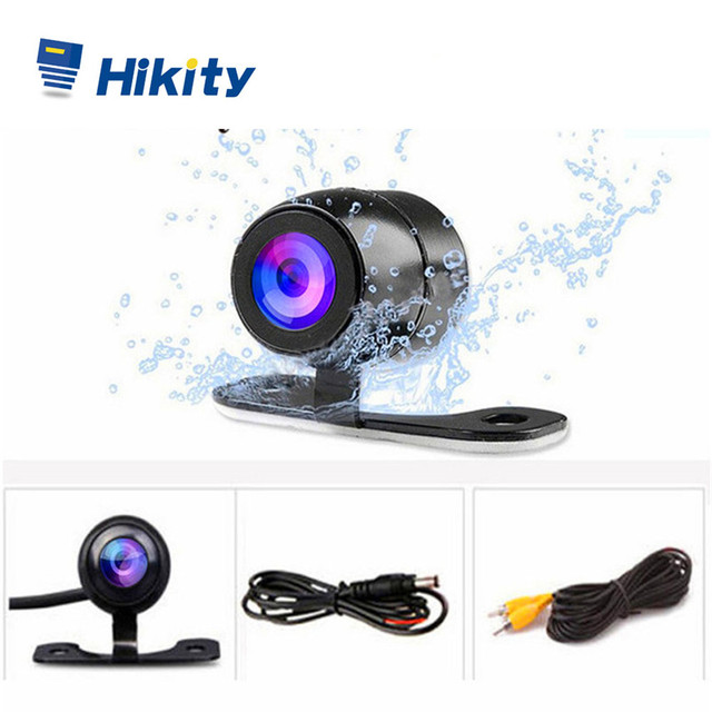 Hikity Auto CCD HD รถย้อนกลับกล้องด้านหลังที่จอดรถ aid Universal กล้องด้านหน้าด้านหลังกล้องกันน้ำกล้อง