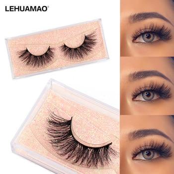 LEHUAMAO Makeup Eyelashes 3D Mink Lashes Thick Cross Mink Eyelashes Fluffy Natural Long Lashes Dramatic Big Eyelash Extension 1