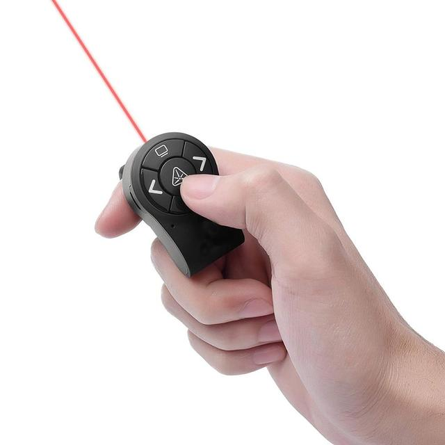 Finger ring style remote controller, 2.4Ghz wireless presenter, presentation laser pointer, finger ring remote control
