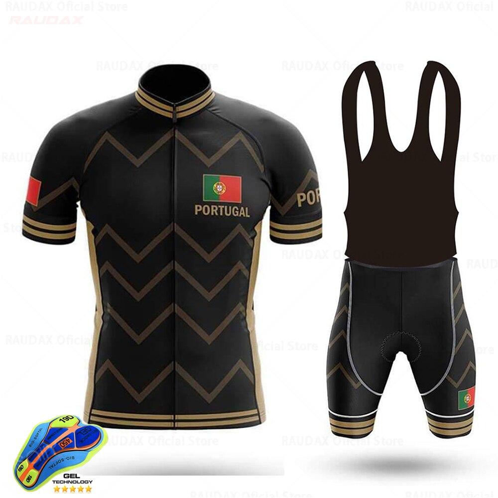 Portugal 2020Men's Cycling Jersey Set Maillot Outdoor sports riding equipment Cycling Bib Shorts uniform cycling Ciclismo hombre
