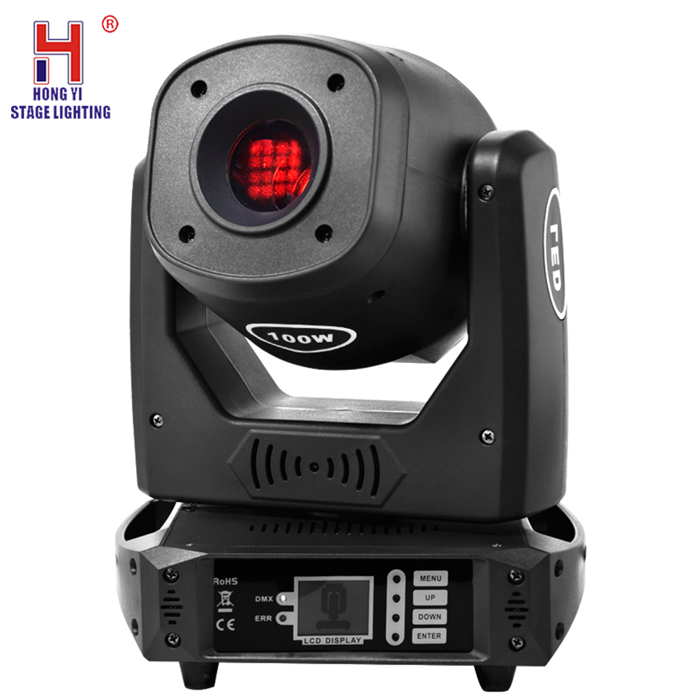 Lyre 100W DMX-512 Stage Lighting 100W Led Spot Light Professional Moving Head Lights Strobe Effect 14Channels For Club Wedding