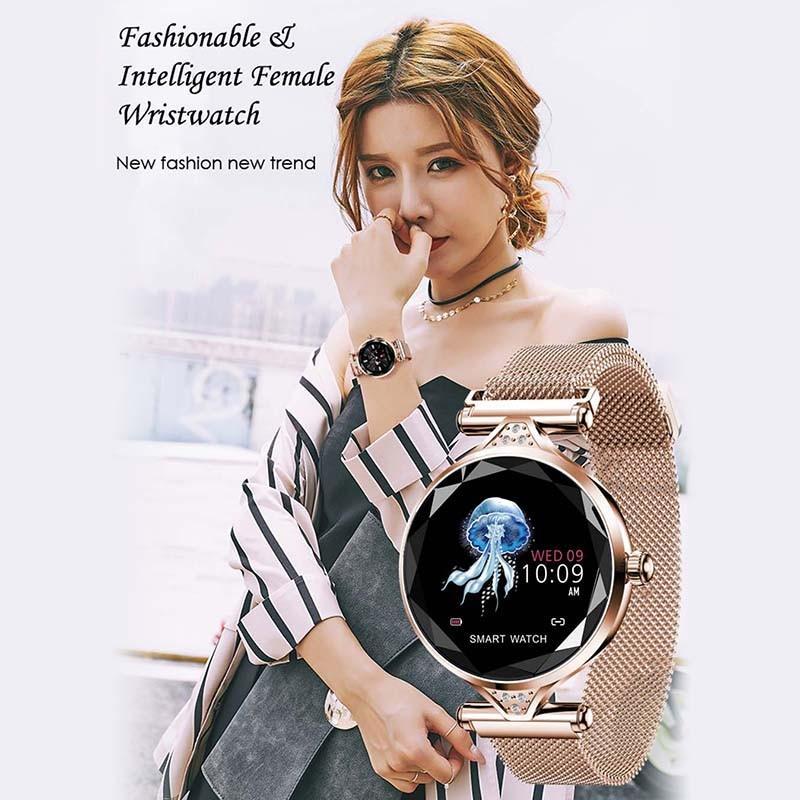 He2caf8f72c494392b532ba82220c40f7b 2021 Fashion Smart Watch Women IP68 waterproof Multi-sports modes Pedometer Heart Rate smartwatch Fitness Bracelet for Lady Gift