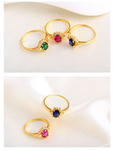 Gold-plated fashion ruby premium ring Vintage temperament
