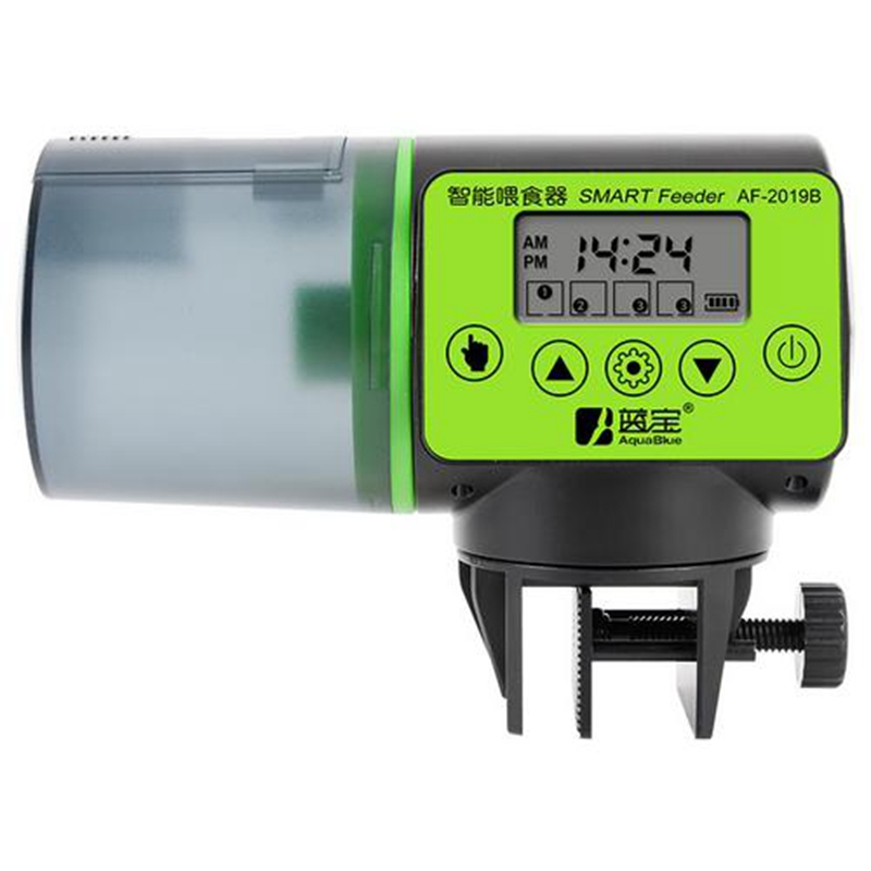 Automatic Fish Feeder For Aquarium Fish Tank Auto Feeders With Timer Pet Feeding Dispenser 200ml LCD Indicates Fish Feeder|Feeders| |  - title=