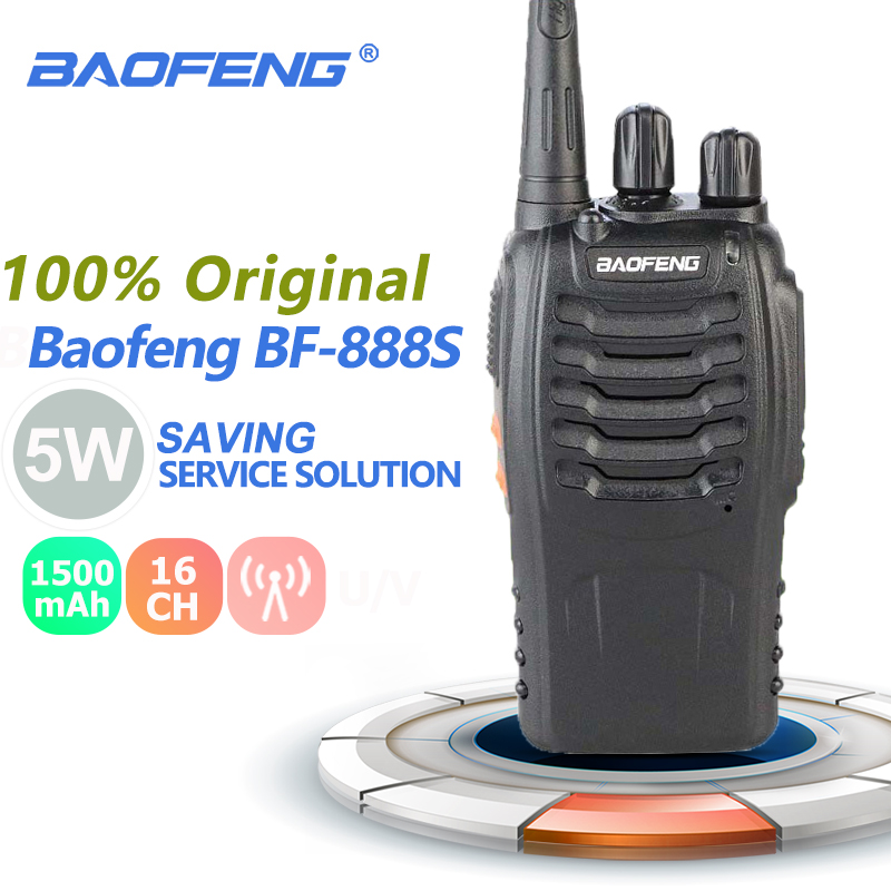 Baofeng BF-888S Portable Walkie Talkie 5W UHF Two Way Radio BF888S Rechargeable BF 888S Cb Radio Range Car Talkie Amateur Radio