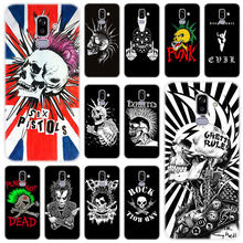 Hot Punk rock skull Silicone Case for Samsung Galaxy J2 Pro J4 Plus J6 J7 Prime J8 2018 J4 Core J3 2016 J5 2017 EU Fashion Cover(China)