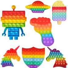 1pc Cartoon silikonowe zabawki typu Fidget Push Bubble Fidget zabawka sensoryczna autyzm potrzebuje Reliever anty stres gniotki nerwowe tanie tanio CN (pochodzenie) MATERNITY W wieku 0-6m 7-12m 13-24m 25-36m 4-6y 7-12y 12 + y 18 + fidget toys kids fidget toys Sport silicone toys