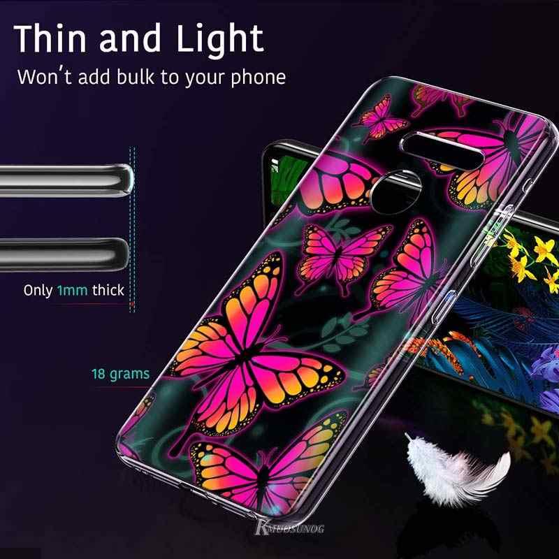 Bunte Coole Schmetterling Stil für LG W20 W10 V50S V50 V40 V30 K50S K40S K30 K20 Q60 Q8 Q7 Q6 g8 G7 G6 ThinQ Telefon Fall