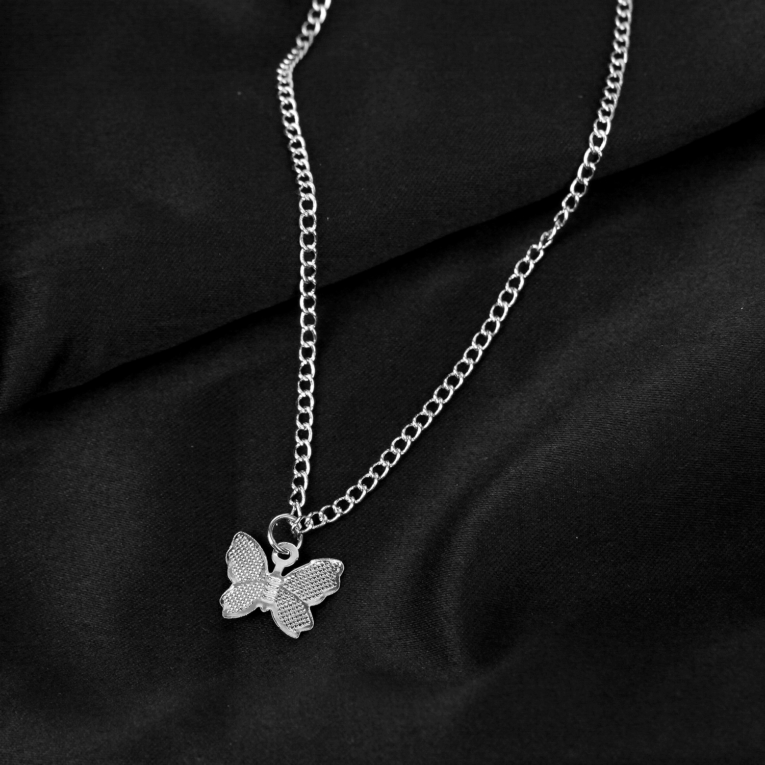 butterfly chain necklace gold