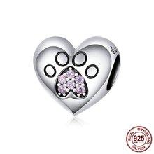 Хрустальные амулет лапа Серебро 925 Сердца Подвески бусины для