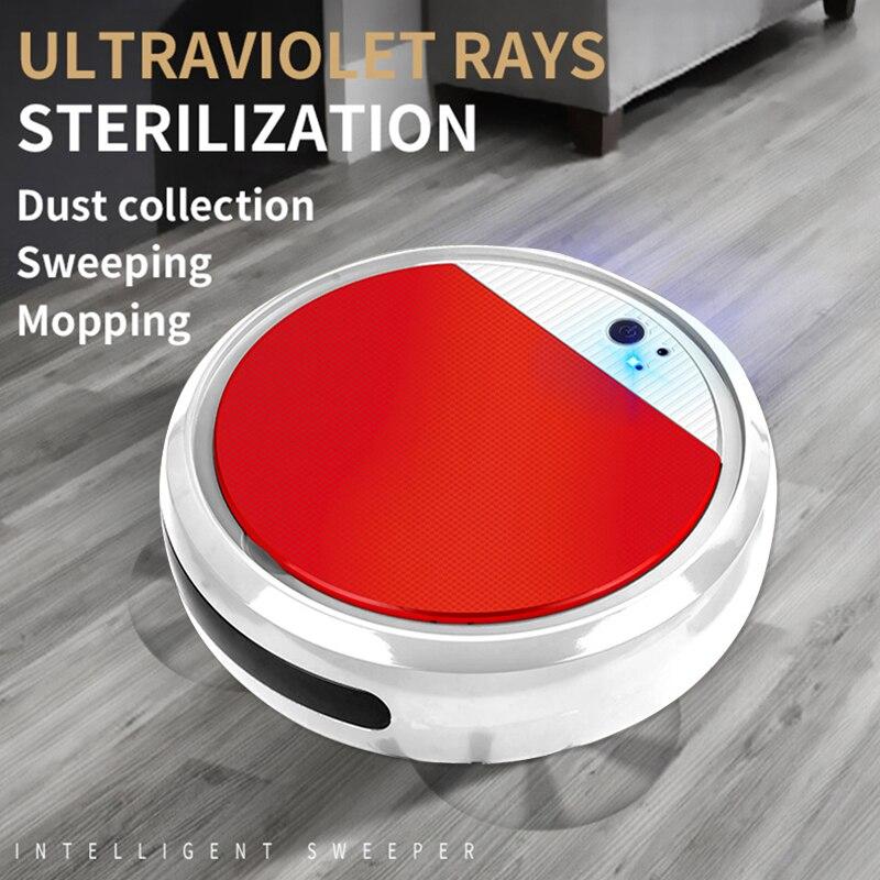 Робот-Пылесос Smart дезинфекции развертки и влажная уборки скруббер пылесос робот Run 60 минут Пылесосы для дома
