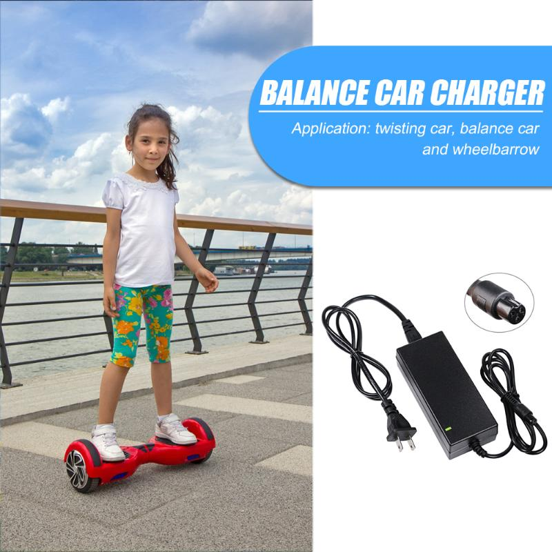 Walking Car Scooter Charger Installa And Remove Convenient Simple Wheelbarrow Balance Car Power Adapter 42V 2A US Plug