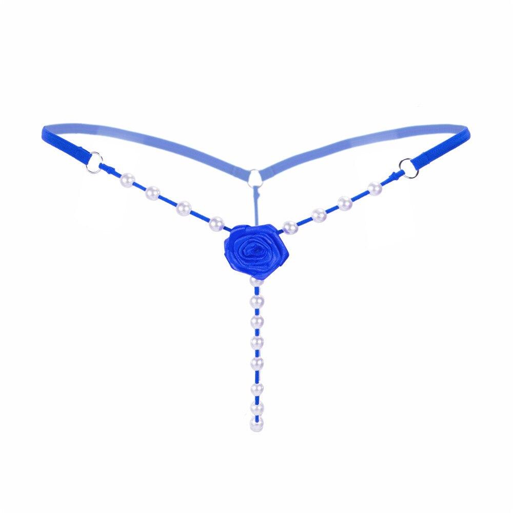 G-String Underwear Lingerie Tanga Thongs Rose Pearl Seamless Sexy Women T-Back Hilo Temptation