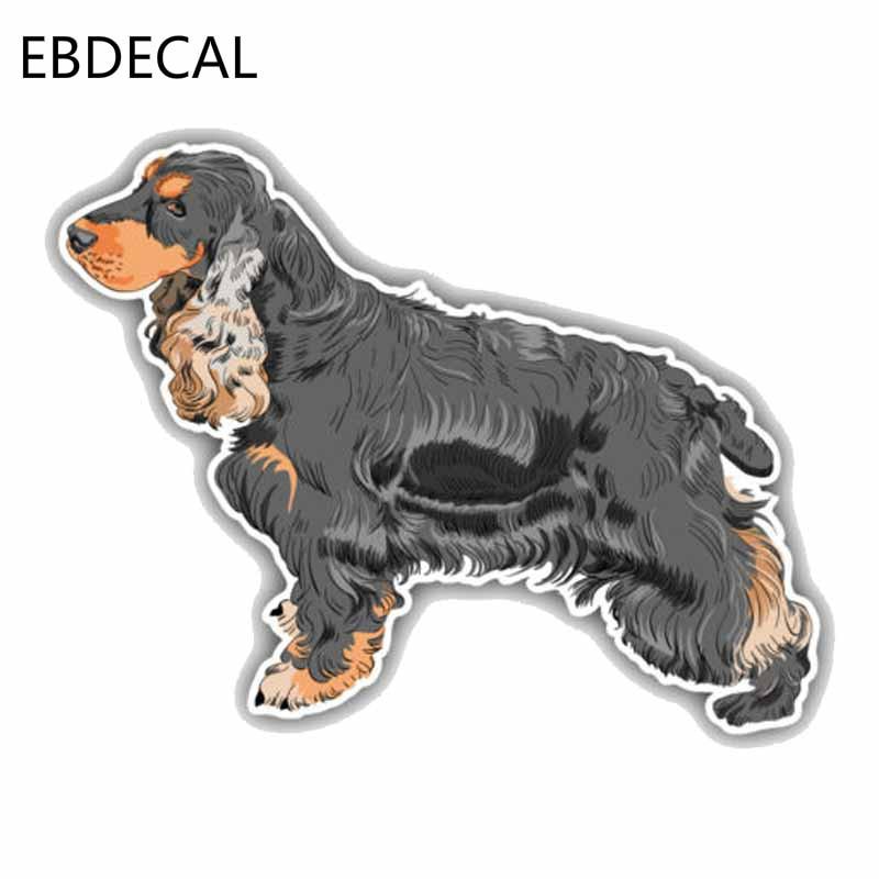 /'/'SIZES/'/' English Cocker Spaniel Dog Car Bumper Sticker Decal
