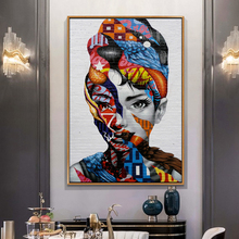 SELFLESSLY Graffiti Art Audrey Hepburn Canvas Painting Wall Pictures For Living Room Print Modern Decorative
