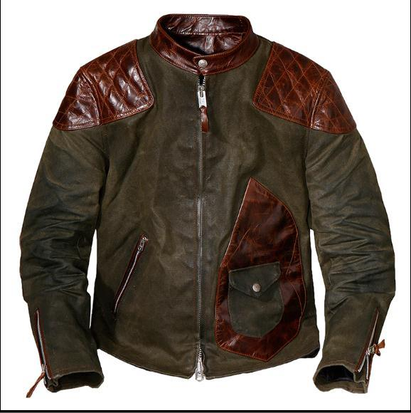 Free Shipping.popular Mens Genuine Leather Jacket,Us Vintage Heavy Wax Canvas Jacket Stitching Cowhide.quality.thick Hard