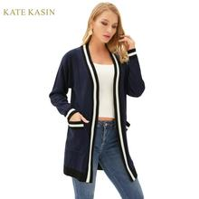 Kate Kasin Women Cardigans Knitwear Long Sleeve Sl
