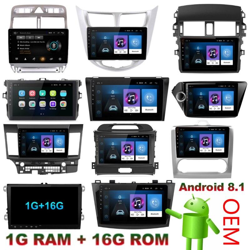OEM vous voulez 2 Din Android 8.1 voiture GPS lecteur multimédia pour hyundai solaris peugeot 307SW Collora Kia Rio Sportage