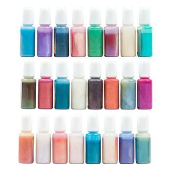 24 sztuk zestaw przezroczysta żywica epoksydowa Pigment UV żywica barwnik DIY biżuteria Colorant rzemiosło artystyczne kolorowanie tonowanie kolor mieszanie ciecz Decor tanie i dobre opinie CN (pochodzenie) Powder OTHER 581E2SS306884-3